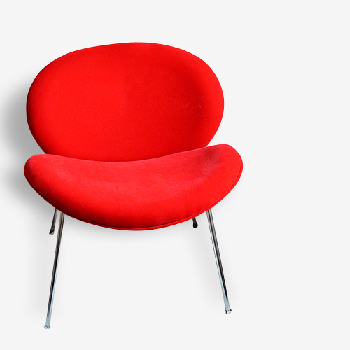 Fauteuil rouge style Slice chair