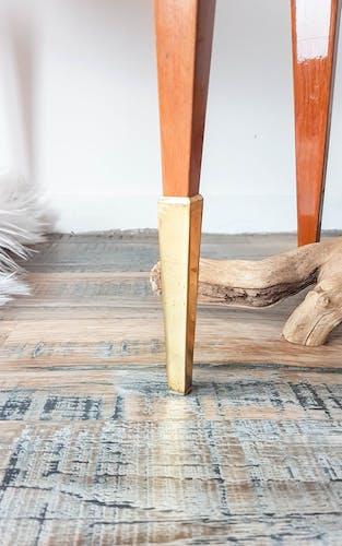 Paire de chevets scandinaves motif placage