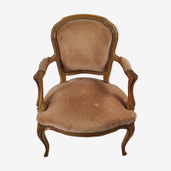 Upholstered armchair Louis XVI style