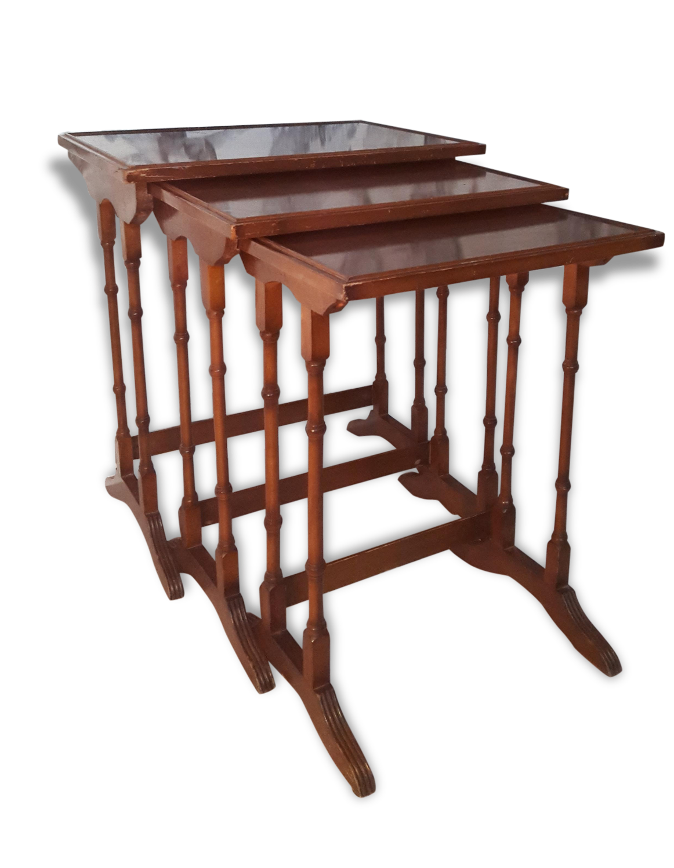 3 tables gigognes beautiful set de tables gigognes en verre transparent lexy with 3 tables - Table en verre transparent ...