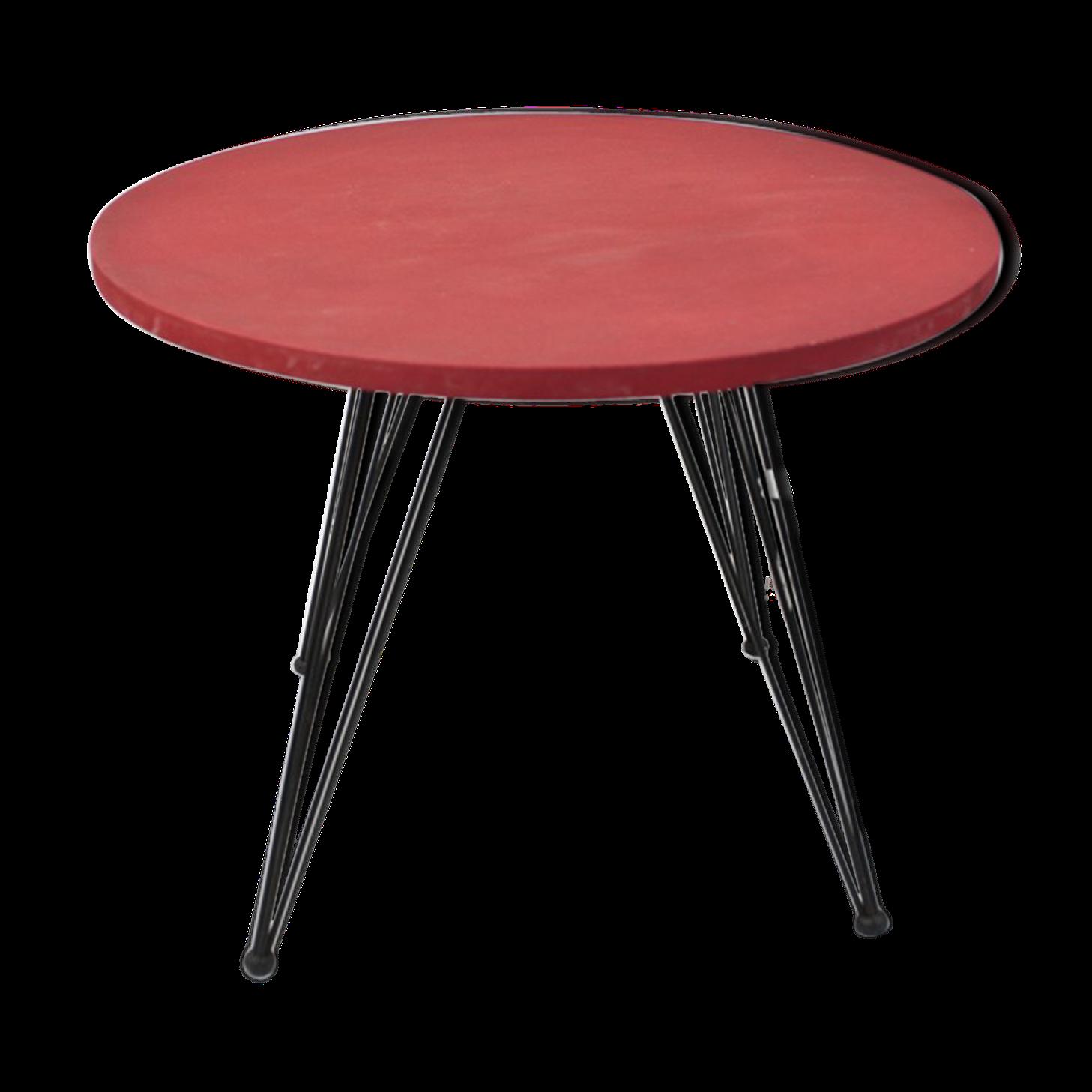 Table Basse Rouge Année 50   Bois (Matériau)   Rouge   Vintage   1j0Tc8w