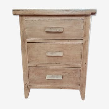 Furnished business chest of 3 drawers