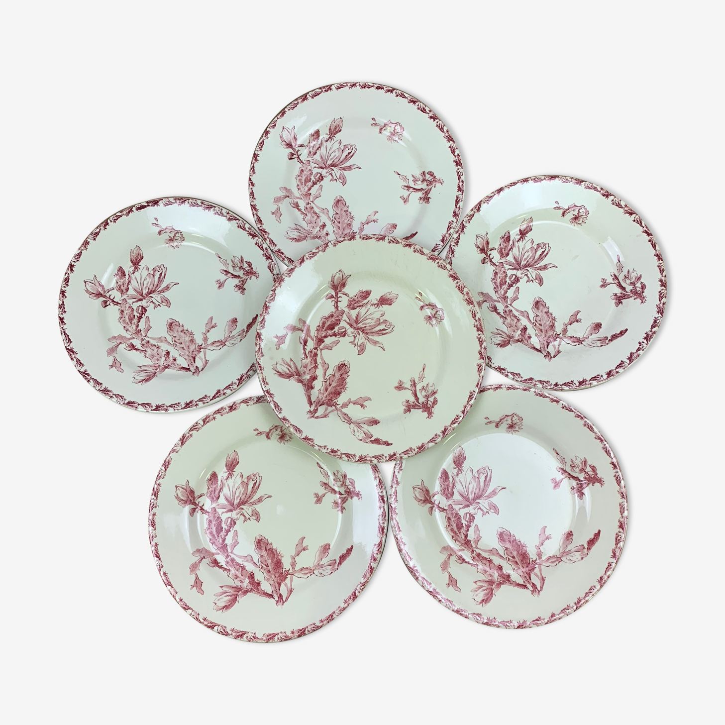 Set of 6 dinner plates models Cactus de Gien