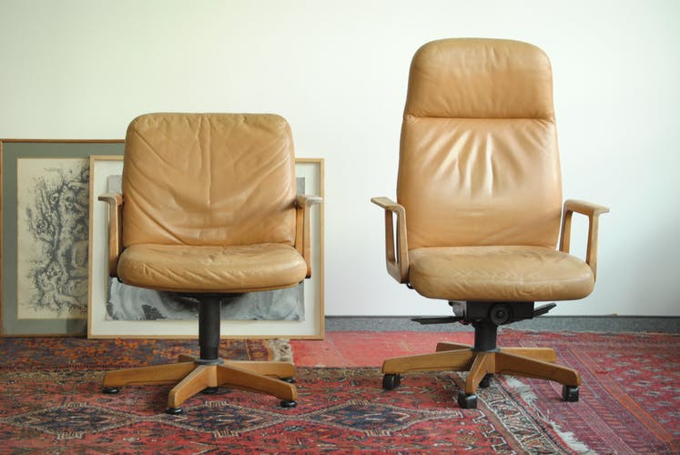 Pairs of leather by SEDUS Swivel office armchair