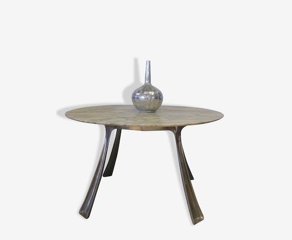 table ann es 70 michel charron pierre et pl tre blanc design 15239. Black Bedroom Furniture Sets. Home Design Ideas