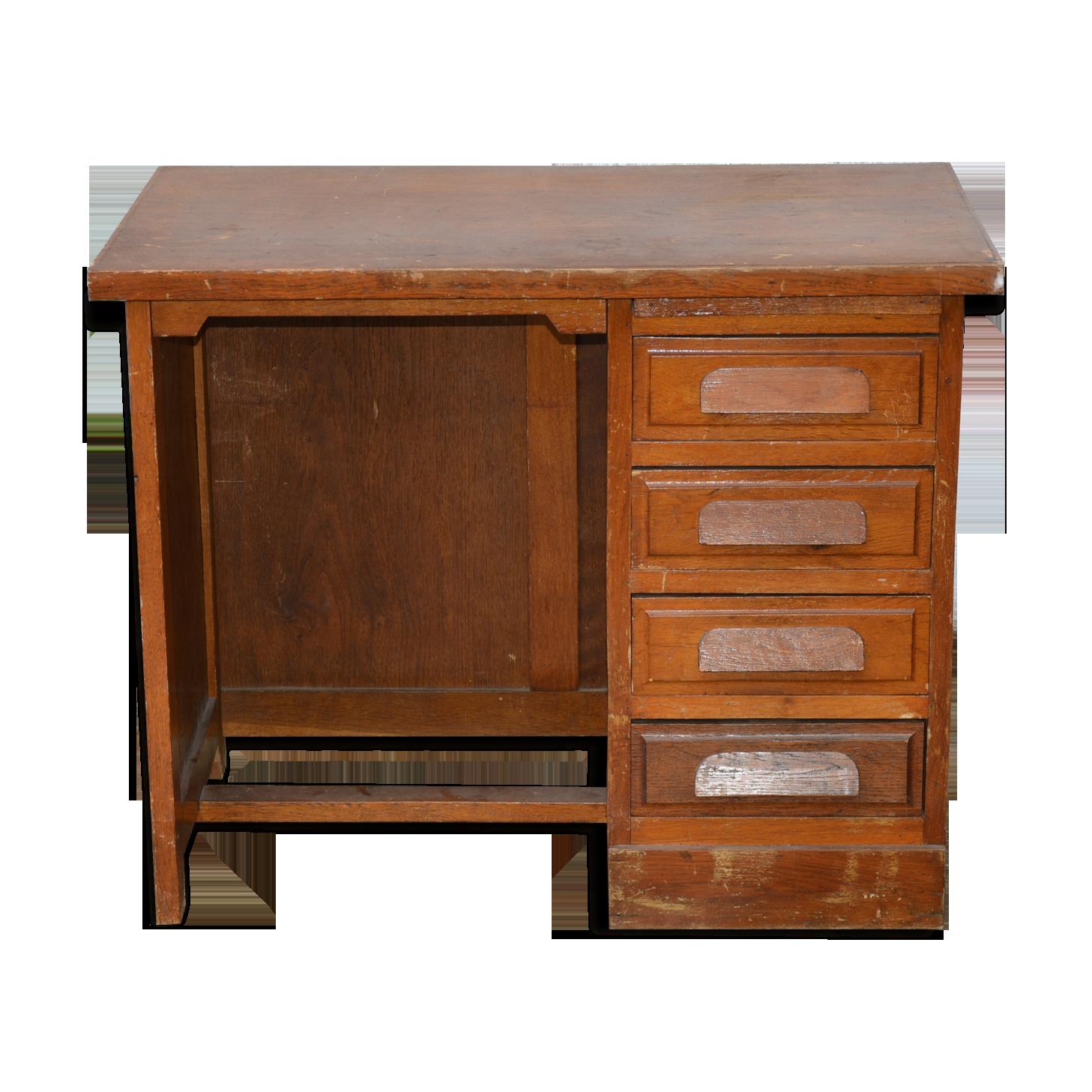 Bureau enfant ancien bureau administratif bois matériau