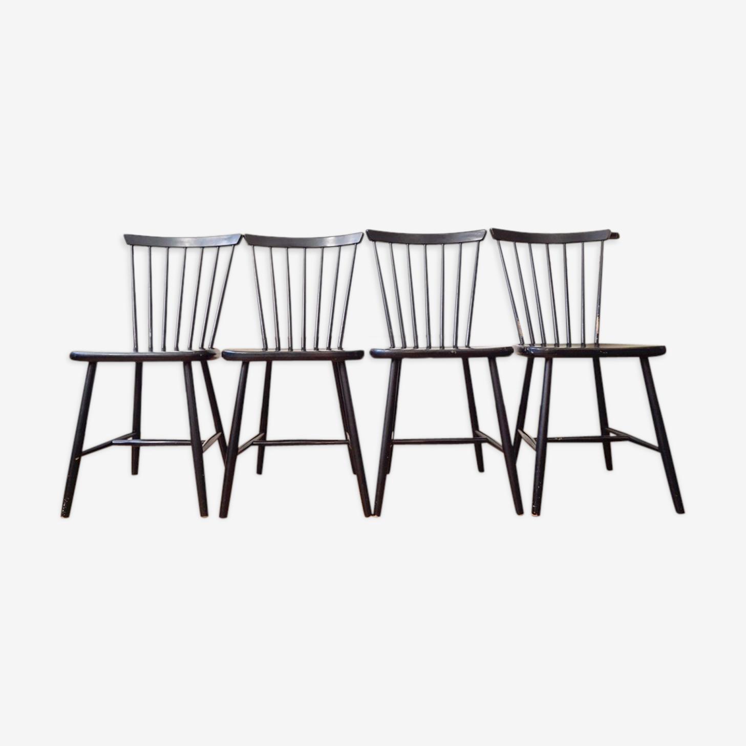 Série 4 chaises made in Sweden by Edsby Verken