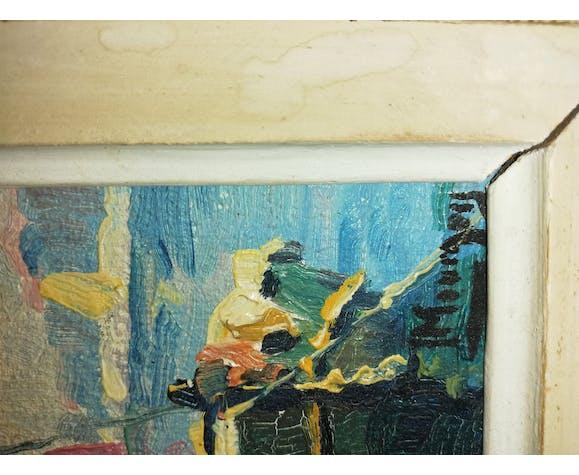 Huile sur carton de St Tropez