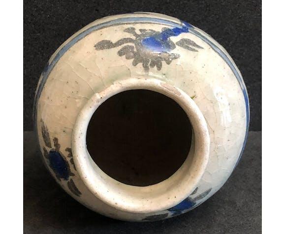 Pot Kadjar Qājār céramique siliceuse XIXe début XXe Perse
