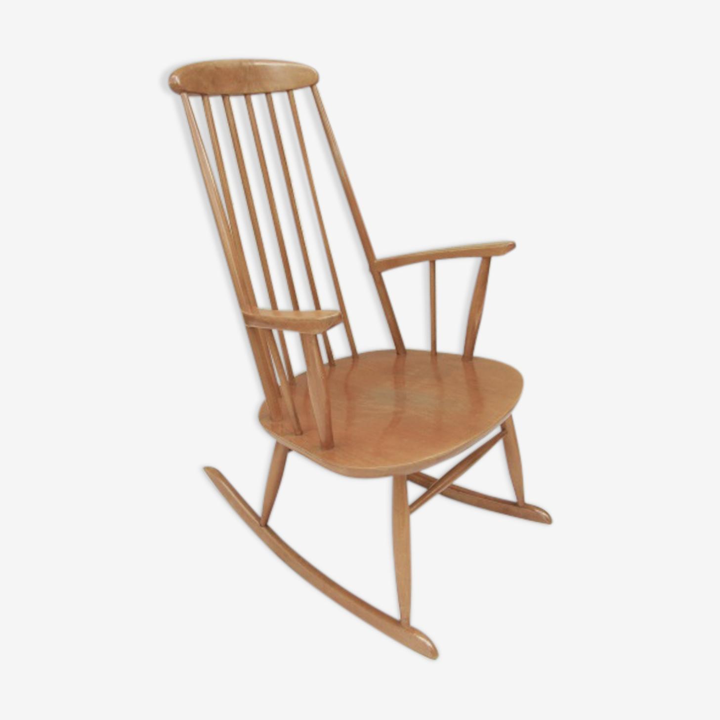 Rocking-chair vintage 60 ligne scandinave Stol Kamnik