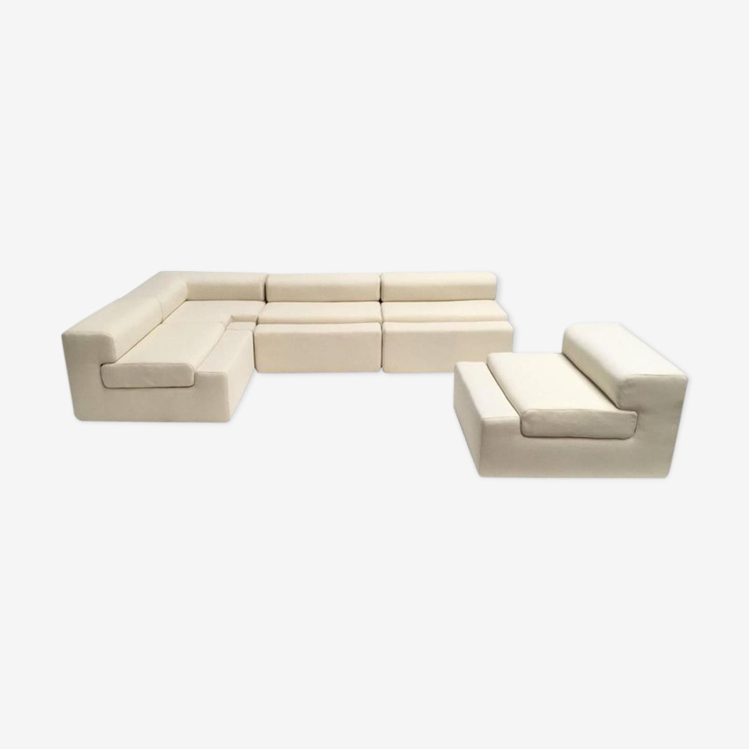 Canapé modulable unique par Mangiarotti de la «Casa Vitale» 1969 avec certificat
