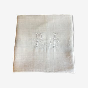 Old linen, monogram sheet (model 2)