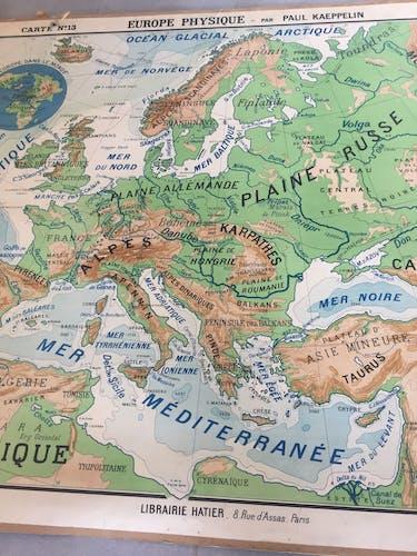 Paul Kaeppelin school geography map
