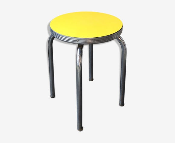 Tabouret Style Diners Americain Des Annees 50 Formica