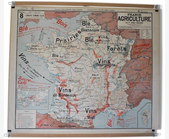 carte vidal lablache le bon coin Ancienne carte murale d'école Vidal Lablache N° 8 France