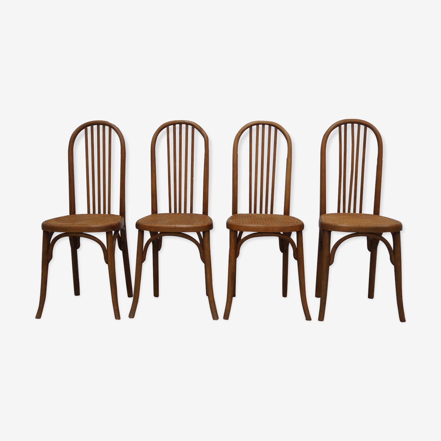 Ensemble de 4 chaises Fischel années 50