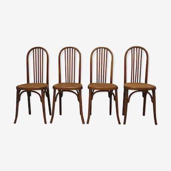 Set of 4 chairs 50s Fischel