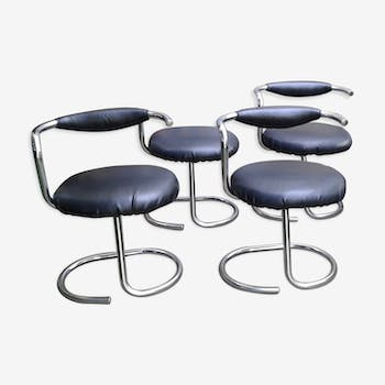 Set of 4 chairs by Giotto Stoppino