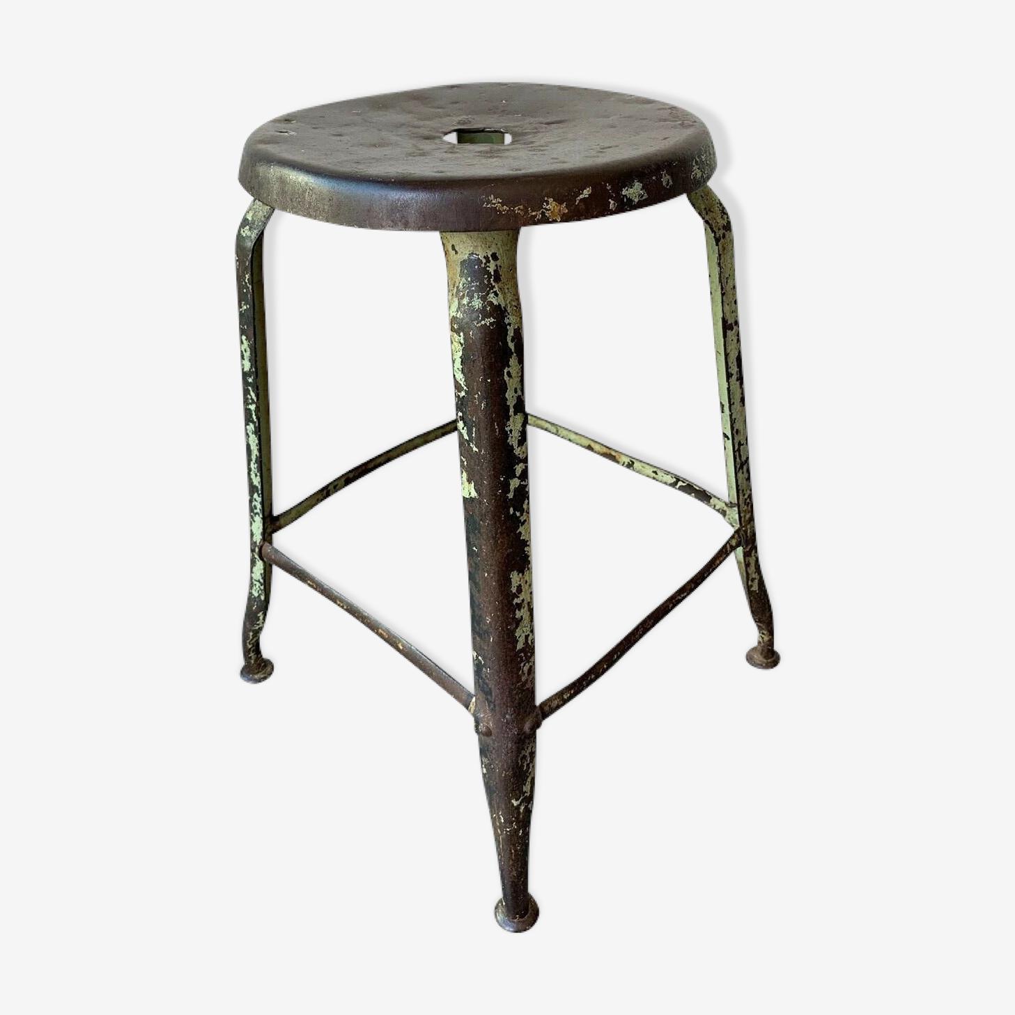 Industrial metal workshop stool