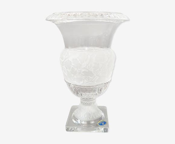 Vase Medicis en cristal de Boheme