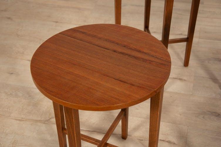 Mid-century danish teak tables by par Poul Hundevad, set of 5