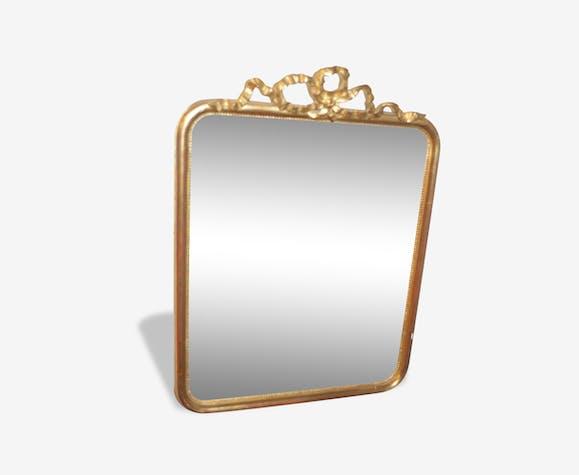 Miroir dor style louis xv avec un noeud pierre et for Miroir petit format