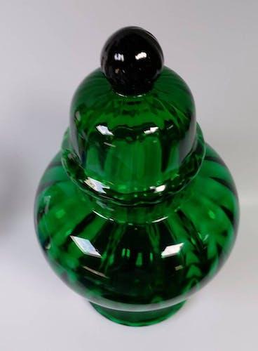 Empoli verde apothecary jar - sweet jar - 1960