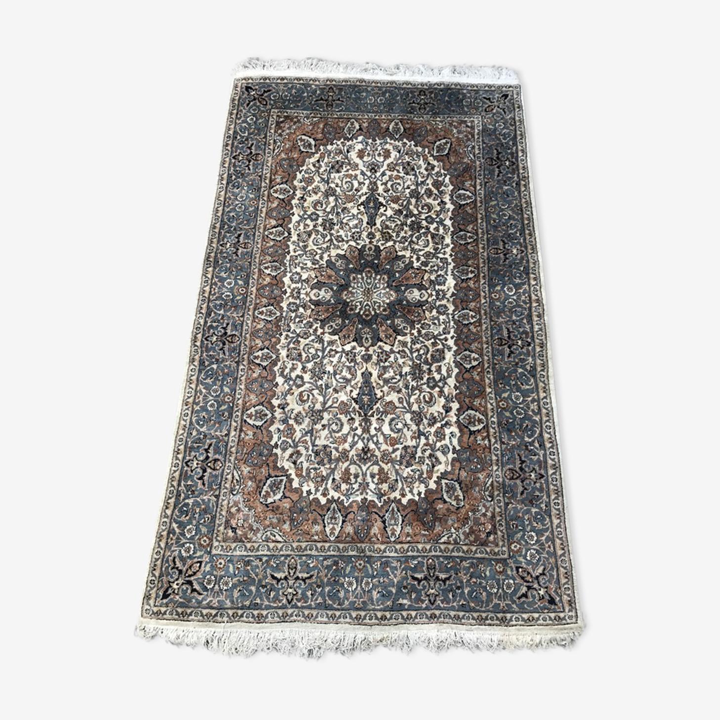 Tapis d'orient Punjab Inde laine et soie fait main 153X258 cm
