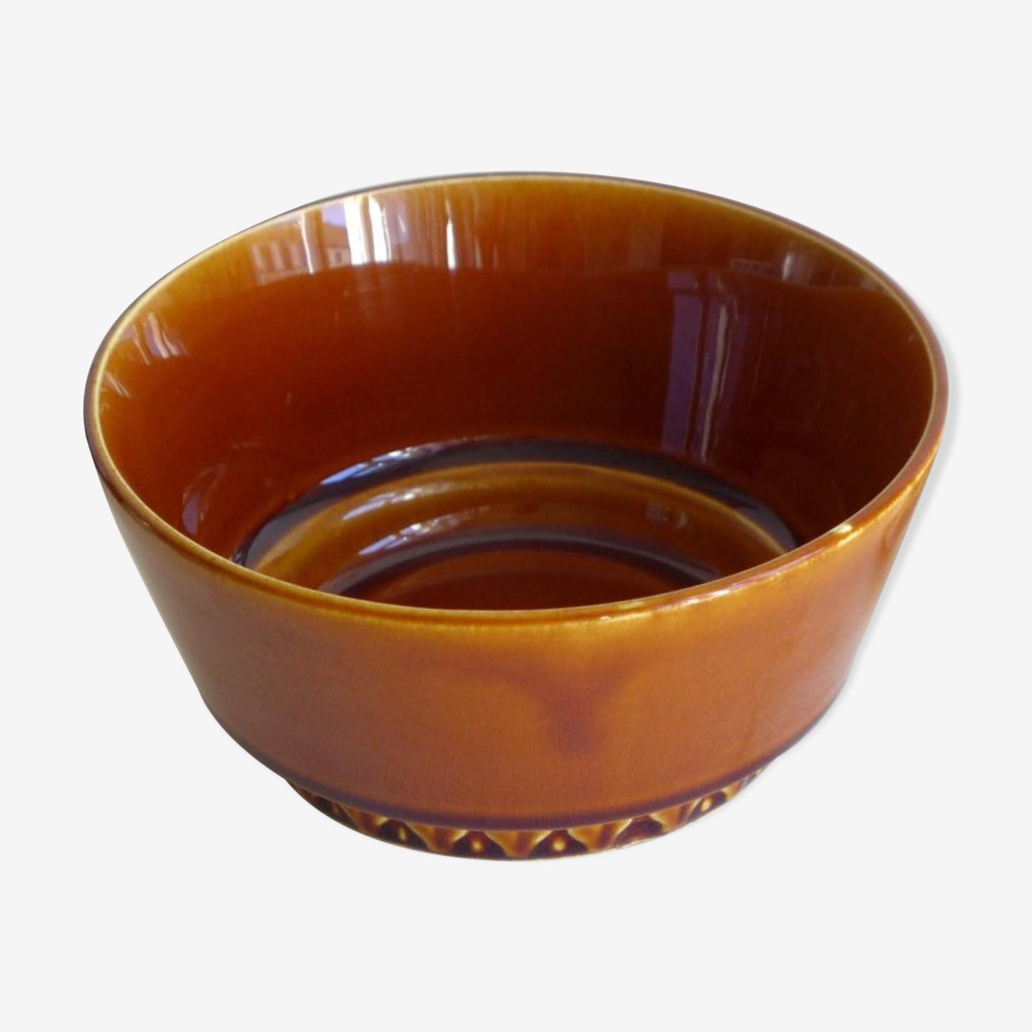 Bol en céramique brune des années 70
