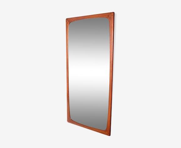 Denmark 1960s 100x47cm teak mirror