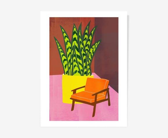 Chaise orange par HelloMarine