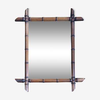 Bamboo mirror 51x62cm