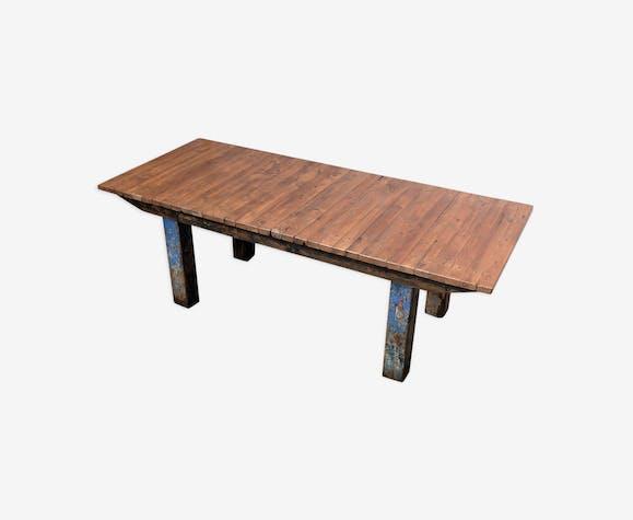 Table En Noyer Industrielle Selency
