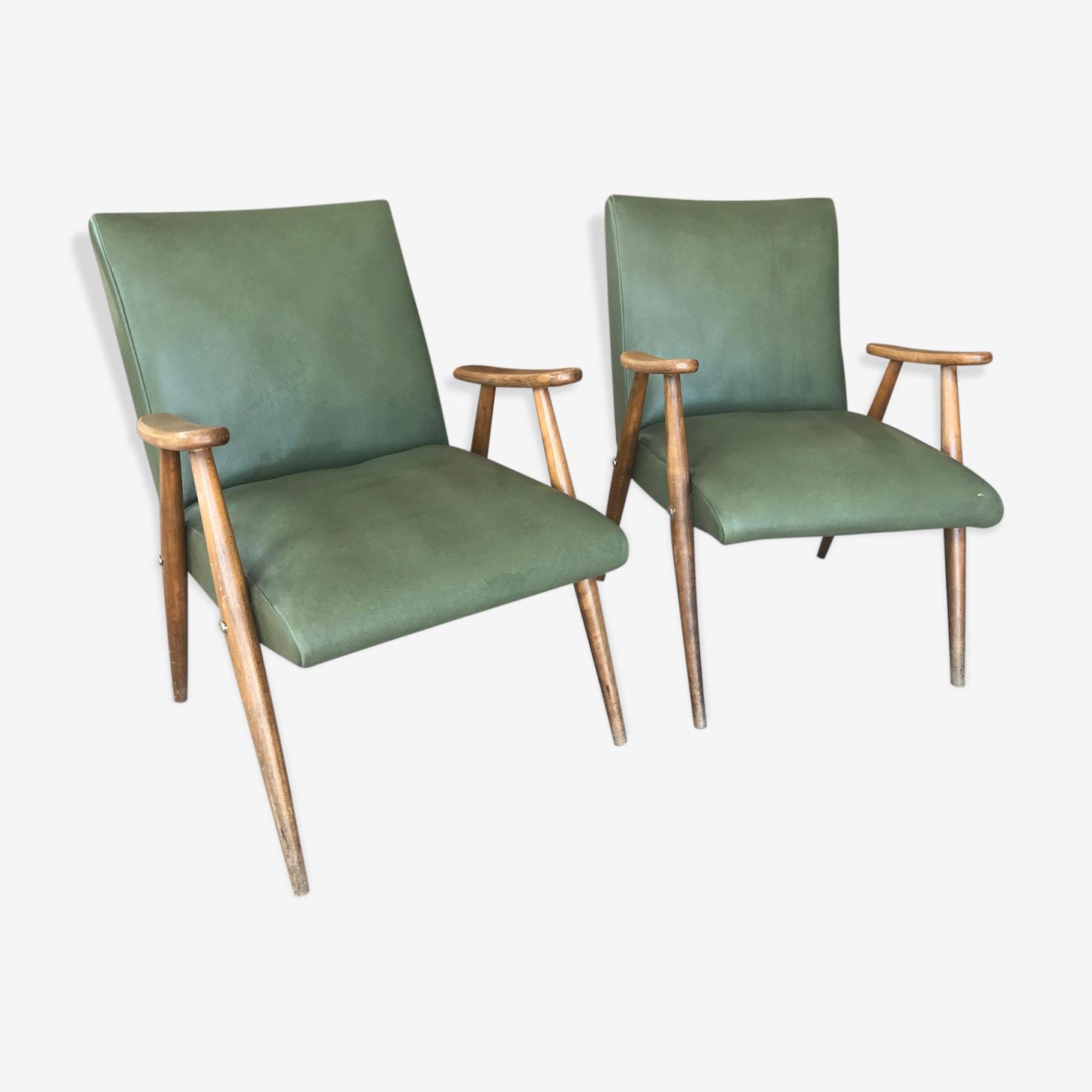 Paire de fauteuils vintage scandinave années 60