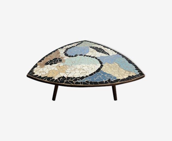 Table basse carrelage multicolore c ramique porcelaine Table basse multicolore