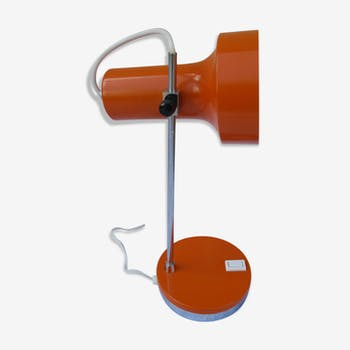 Lampe bureau vintage coulissante orange années 70