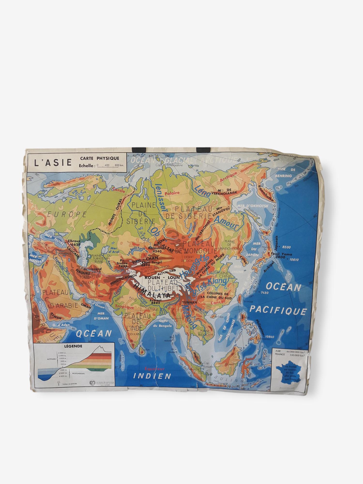La carte scolaire de géographie