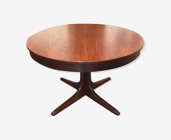 Table ronde extensible design scandinave - bois (Matériau) - bois ...