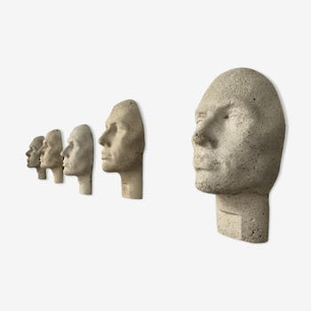 Series of 5 cement heads