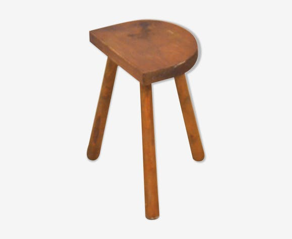Old farmhouse stool in solid wood