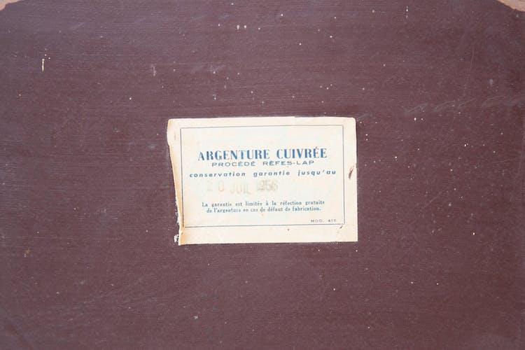 Vintage antique art deco bevelled mirror 30/40's, 60x37