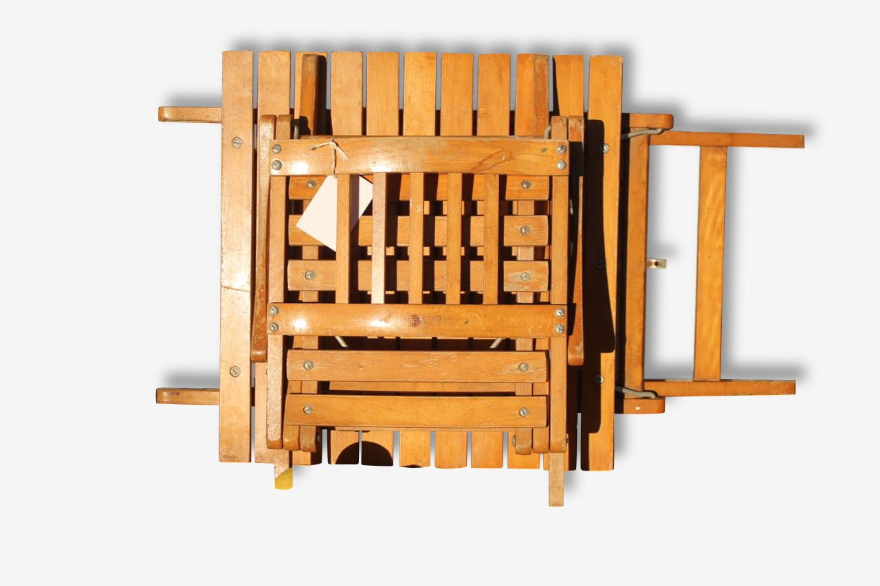 Bureau et chaise enfant vintage pliable