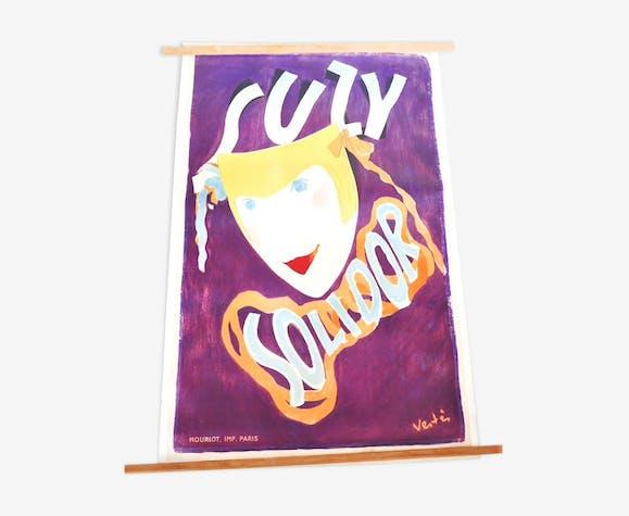 Suzy Solidor affiche lithographiée de cabaret