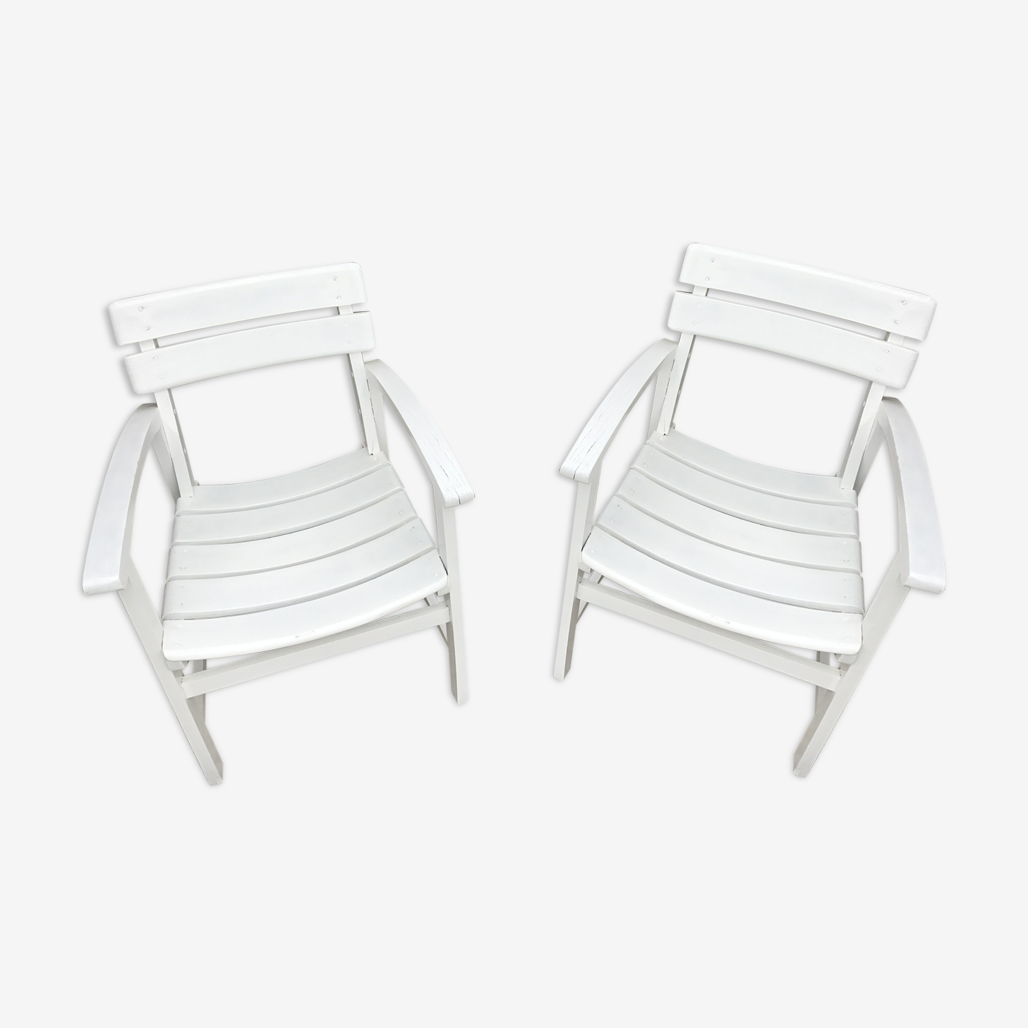 Set of 2 low chairs exotic wood