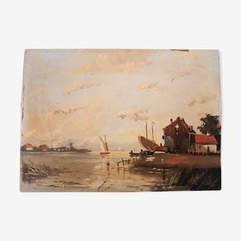Oil on wood - signed Hero Hette Ros (1872-1964)
