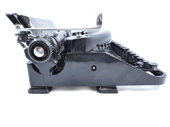 Machine à écrire Remington Noiseless 7 portable noire brillante Superbe 1937 USA