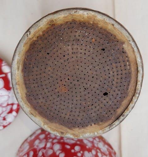 Red enamel coffeepot full height 27 cm