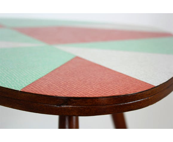 Czech Multicolored Formica Coffee Table from Drevopodnik Brno, 1960s