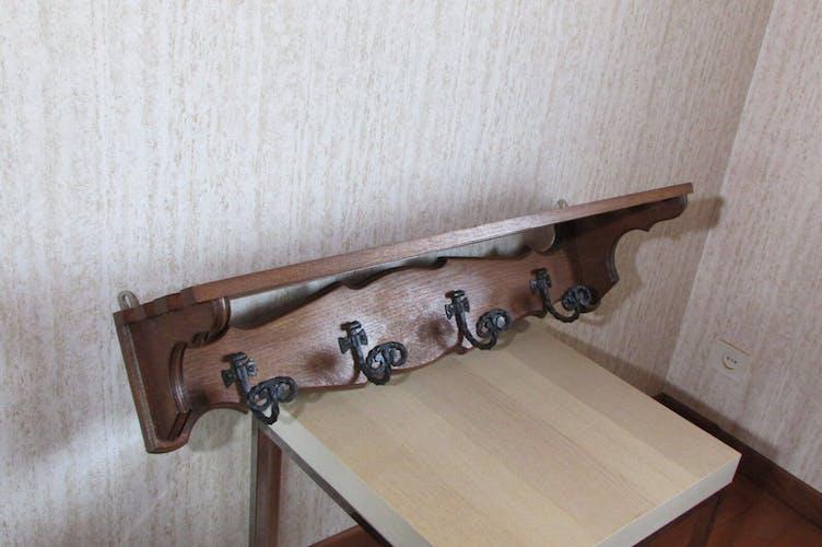 Scandinavian wall coat rack