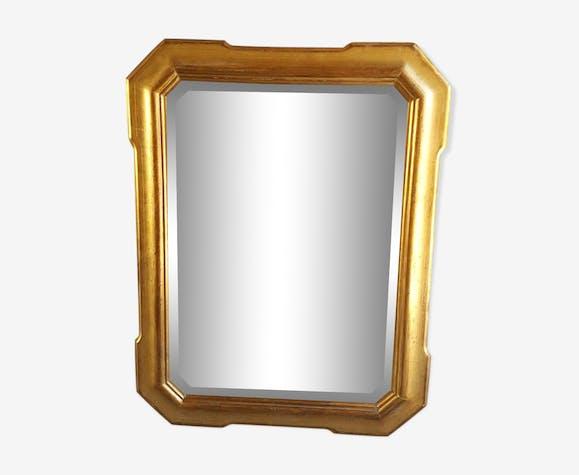Miroir Louis Philippe à la feuille d'or 51x92cm